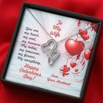 You Are My Heart Gift For Wife Double Hearts Necklace