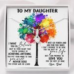 The Rest Of Mine Colorful Tree Alluring Beauty Necklace Gift For Daughter