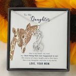 The Source Of Many Laughs Giraffe Couple Necklace Gift For Daughter