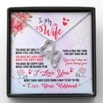 You Make Me Smile Double Hearts Necklace Gift For Wife