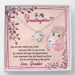 Your Life Is A Joy To Me Gift For Granddaughter 14K White Gold Love Knot Necklace