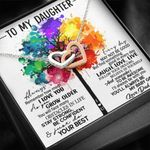 Always With You Colorful Tree Interlocking Hearts Necklace Gift For Daughter