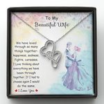 Double Hearts Necklace Gift For Wife We Have Loved Through So Many Things Together