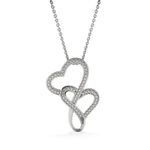 Gift For Unbiological Sister Fate Brought Us Together To Be Sister By Heart Double Hearts Necklace