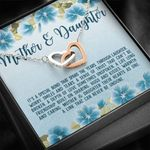 Blue Hibiscus A Special Between Mother And Daughter Interlocking Hearts Necklace Gift For Women