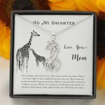 Never Forget I Love You Giraffe Couple Necklace Gift For Daughter