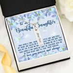 I'll Stay There Forever Birthstone Name Bar Necklace Gift For Daughter
