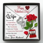 You Are My Soulmate Gift For Wife Double Hearts Necklace