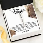 Believe In Yourself Lion Birthstone Name Bar Necklace Gift For Daughter