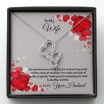 You Are The Source Of My Joy Double Hearts Necklace Gift For Wife