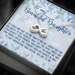 How Special You Are Flower Garden Infinity Heart Necklace Gift For Daughter