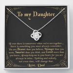Always Keep Me In Your Heart Love Knot Necklace Gift For Daughter
