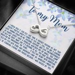I Was Raised By You Infinity Heart Necklace Gift For Mama