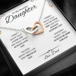 I Will Always Love You Interlocking Hearts Necklace Gift For Daughter
