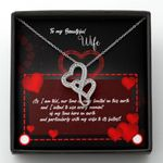 As I Am Old Double Hearts Necklace Gift For Wife