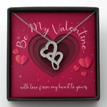 With Love From My Heart To Yours Gift For Lover Double Hearts Necklace