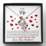 The Love Of My Life Double Hearts Necklace Gift For Wife