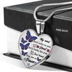 My Mind Spiritual Butterfly Stainless Heart Pendant Necklace Gift For Women