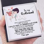For The Rest Of My Life I Will Laugh With You Gift For Girlfriend Infinity Heart Necklace