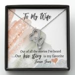 Love Story Is My Favorite Double Hearts Necklace Gift For Wife