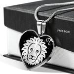 Leo Zodiac Stainless Heart Pendant Necklace Gift For Leo Girls