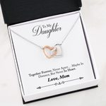 Together Forever Interlocking Hearts Necklace Gift For Daughter