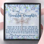 Everyday You're With Me Dragonfly Dreams Necklace Gift For Daughter