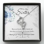 Double Hearts Necklace Gift For Sister We Are Like Family