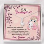 You Are The Child Of My Child Gift For Granddaughter 14K White Gold Alluring Beauty Necklace