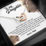 The Rest Of Mine Lion Interlocking Hearts Necklace Dad Gift For Daughter