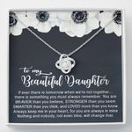 When We're Not Together Love Knot Necklace Gift For Daughter