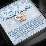 Never Feel You Are Alone Interlocking Hearts Necklace Gift For Daughter
