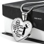 Love You For Always Heart Pendant Necklace Gift For Daddy