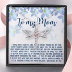 Because I Was Raised By You Dragonfly Dreams Necklace Gift For Mama