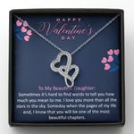 When The Pages Of My Life End Double Hearts Necklace Gift For Wife