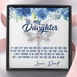 Love You For The Rest Of My Life Blue Camellia Dragonfly Dreams Necklace Gift For Daughter