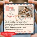 Love Me As Your Own Custom Photo And Name Interlocking Hearts Necklace Gift For Daughter In Law