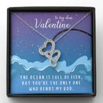 You Are The Only One Who Bends My Rock Gift For Wife Double Hearts Necklace
