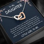 How Much You Mean To Me Gift For Daughter Interlocking Hearts Necklace