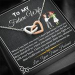 Love You More Interlocking Hearts Necklace Gift For Wife