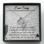 I'm Sorry Diary Double Hearts Necklace Gift For Wife