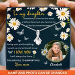 Custom Photo And Name Use My Last Breath To Say I Love You Alluring Beauty Necklace Gift For Daughter