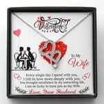 I Am So Lucky To Have You As My Wife Gift For Wife Double Hearts Necklace