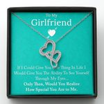 Gift For Girlfriend Double Hearts Necklace How Special You Are To Me