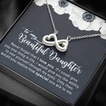 How Special You Are White Flower Infinity Heart Necklace Gift For Daughter