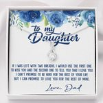 Love You For The Rest Of Mine Blue Camellia Alluring Beauty Necklace Gift For Daughter