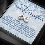 When We're Not Together Infinity Heart Necklace Gift For Daughter