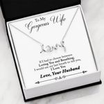 Gift For Wife Loving You And Breathing Scripted Love Necklace