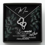 You Are The World Double Hearts Necklace Gift For Mom