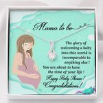 Happy Baby Shower Gift For Mama To Be 14K White Gold Alluring Beauty Necklace